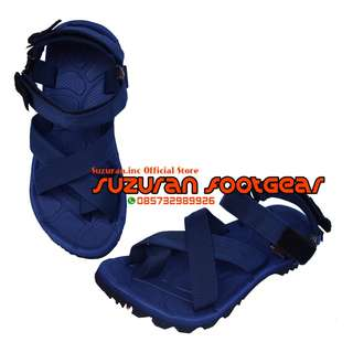 SUZURAN SANDAL GUNUNG THUMB MR2 FULL NAVY BLUE