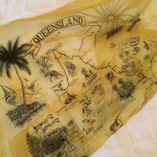 Vintage Sheer Queensland Scarf