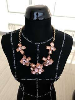 Pink rosegold statement marni inspired necklace