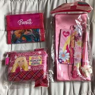 Barbie Wallet, Zipped Purse and Pencil Case Set