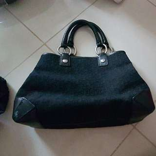 Genuine DKNY Tote Bag.  Black