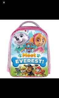Instock Paw Patrol bag ht 38cm Everest / skye bag brand new