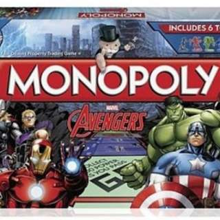 Monopoly Board Game Avengers Edition Brand New