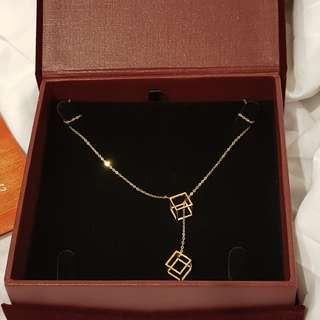 Limited Edition Cubic Gold Necklace (916 Gold)