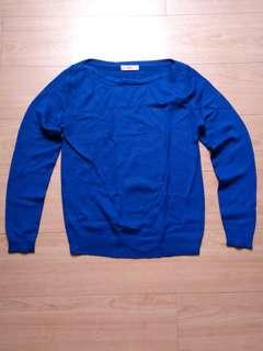 Blue top sweater small to medium