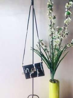 Black-White Clutch Bag