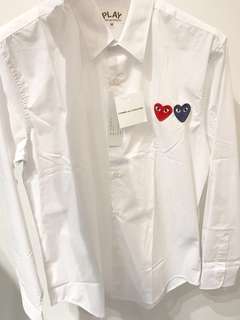 Authentic PLAY CDG COMME des GARÇONS Long Sleeve Shirt