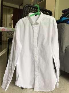 Zalora white shirt slim fit
