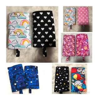 Reversible Drool pad straight cut handmade rainbow tula ergo lillebaby hearts