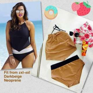 🌷NEW!! DIANNE 2 PC SWIMWEAR 💖PLUSSIZE TOP AND PANTY ( PREORDER/NO TO COD)