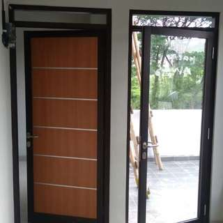 Alumunium pintu hpl