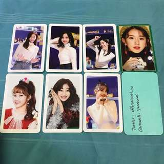Twice Merry & Happy Heart Shaker Official Photocards