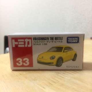 Tomica 全新車仔 no.33 VOLKSWAGEN the Beetle