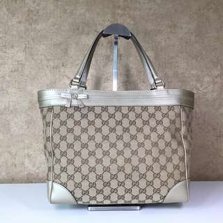 "GUCCI 257061 ""MAYFAIR"" MEDIUM TOTE WITH BOW DETAIL AND INTERLOCKING G DETAIL"