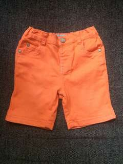 Maong orange shorts