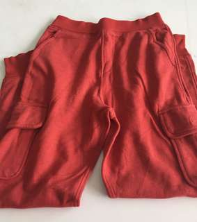 Red canvas long pant