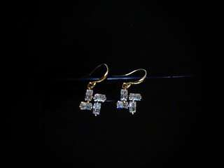 Rectangular Wheeled Earrings