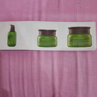 Innisfree trial serum eyecream moisturizer