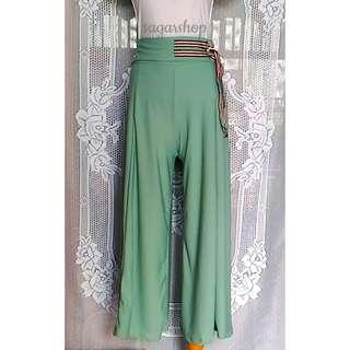 Celana Panjang Kulot BIGSIZE Murah Masha Hijau Baju Pakaian Wanita