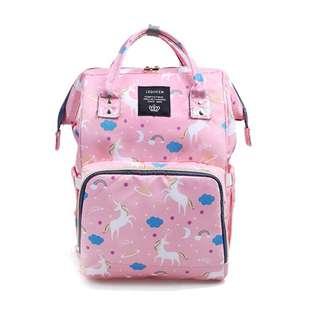 ❤ On-hand: Fashionable Baby Diaper Bag /Mommy Nursing Bag (Unicorn-Pink)