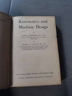 Kinematics and Machine Design
