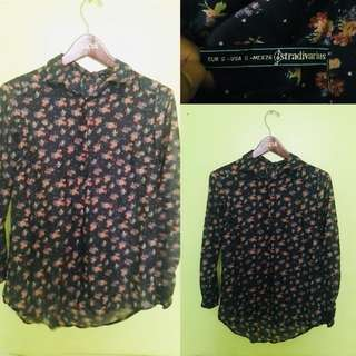 Stradivarius Button Down Floral Top