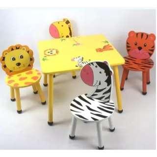 Cartoon wood chair