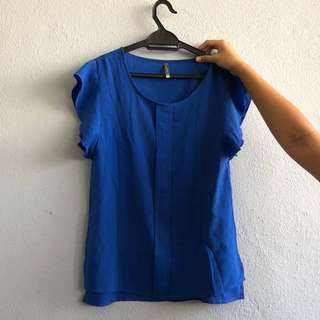 Blue Blouse Top