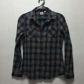 Uniqlo plaid long sleeves