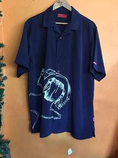 Blue short polo