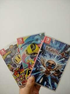 Nintendo Switch Games ( Arms, Binding Of Isaac, Bomberman R )