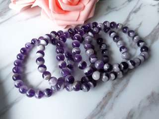 $18 Sales Natural Amethyst Beaded Bracelet