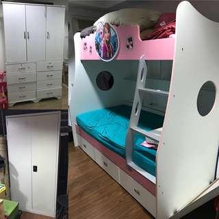 Wardrobe, Locker & Frozen Double Decker #furniture50
