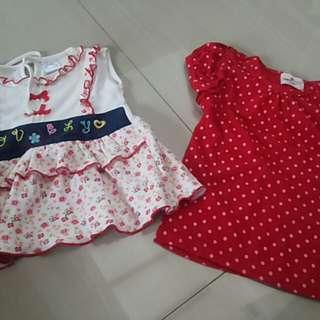 dress bayi usia 3-6 bln
