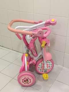 可摺疊 兒童三輪車 小朋友單車 米妮 Minnie