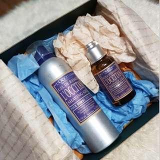 L'Occitane Shower Gel 100ml & Massage Oil