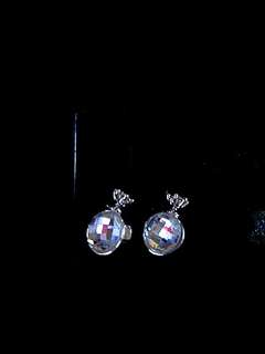 Disco Ball Crown Earrings