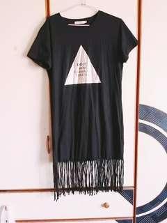 全新優惠👗素色流蘇下擺連身裙 #女裝半價