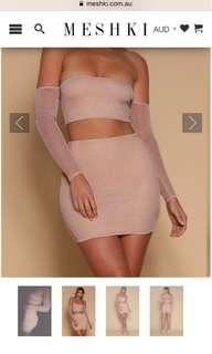 Rose gold meshki skirt
