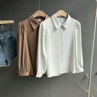 韓國條紋雪紡恤衫