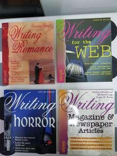 1) Writing Romance 2) Writing for the WEB  3) Writing Horror  4) Writing Magazine & Newspaper Articles