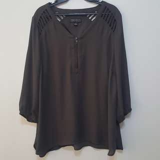 Forever 21 + Plus Size dark gray blouse