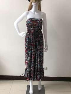 Plus size tube maxi dress