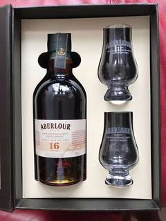 Aberlour 16 Years Old Highland Single Malt Scotch Whisky Box Set