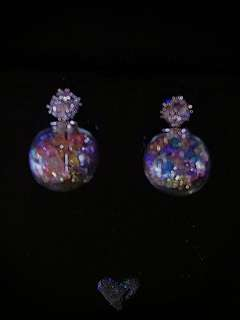 Colorful Crystal Globe Earrings