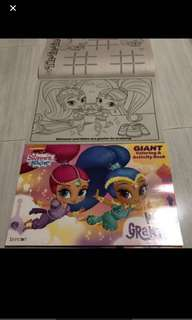 While stock last!! Shimmer and shine /trolls Giant Coloring book brand new * 5 sets left
