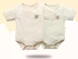 🚚 天然純棉材質新生兒-3個月夏季服