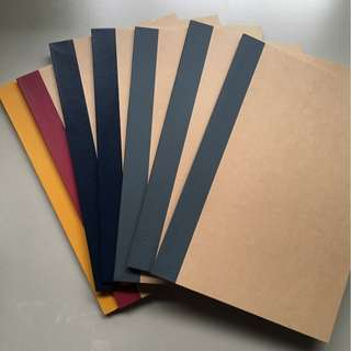 Muji A5 lined notebook 60 pages (yellow)