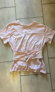 Size S light pink corset type top
