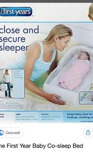 Portable baby bed (Brand: First years)